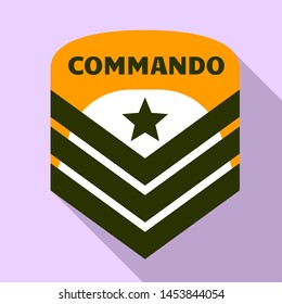 Commando air star logo. Flat illustration of commando air star logo for web design