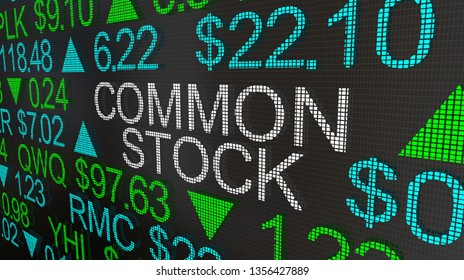 Common Stock Securities Shares Market Ticker 3d Illustration