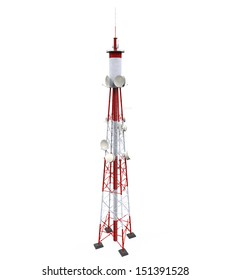 Communication Tower with Antennas