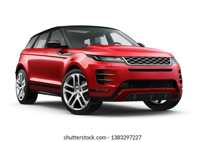 Compact crossover SUV- 3D illustration