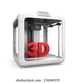 Compact personal 3D printer. Original design.