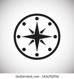 Compass icon on background for graphic and web design. Simple illustration. Internet concept symbol for website button or mobile app