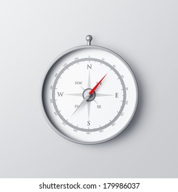 Compass isolated on gray background concept