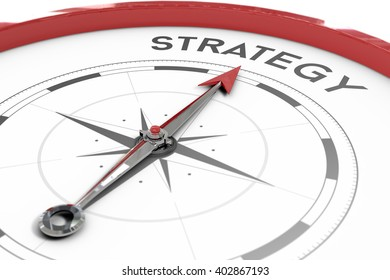 A compass pointing to strategy