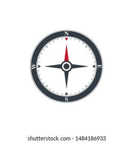 Compasses icon compass. illustration on white background.