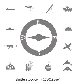 Compasses icon. Set of military elements icon. Quality graphic design collection army icons for websites, web design, mobile app