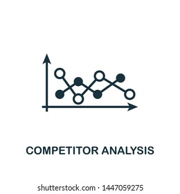 Competitor Analysis icon. Creative element design from business strategy icons collection. Pixel perfect Competitor Analysis icon for web design, apps, software, print usage.