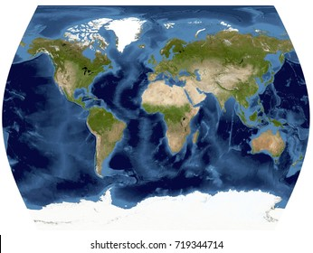 Complete Earth view from space. High resolution world map illustration in World Times projection.Data source NASA.
