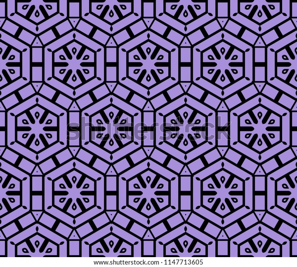 complex geometric ornament. sophisticated geometric pattern based on repetitive simple forms.   illustration
