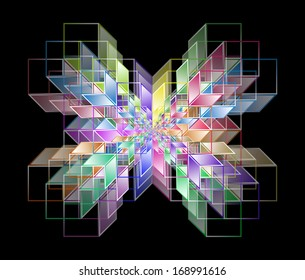Complex hypercubes - Abstract geometrical background