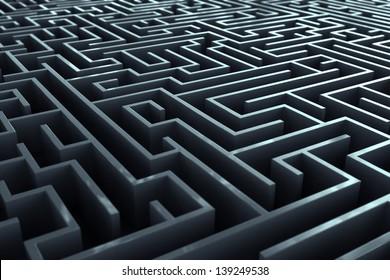 Complicated labirynth corridors.