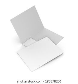 composition of two white folders