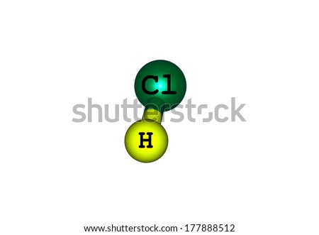 Royalty Free Stock Illustration Of Compound Hydrogen Chloride Has