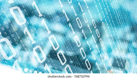 Computer algorithm data future numbers, cyber attack threat