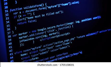 computer code programming coding process 3d illustration