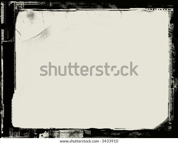 Computer designed highly detailed grunge textured border with space for your text or image. Nice grunge layer for your projects
