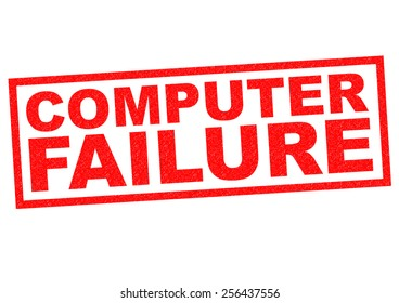 COMPUTER FAILURE red Rubber Stamp over a white background.