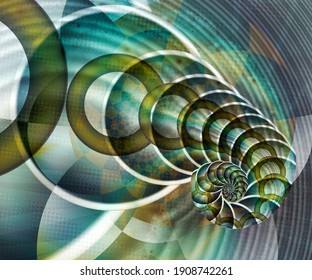 Computer generated abstract colorful fractal artwork for creative design, art, home decoration and entertainment