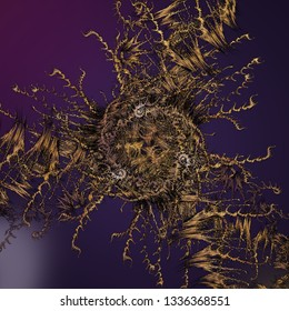 Computer generated abstract fractal design