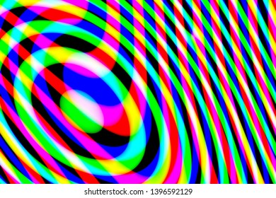 Computer generated abstract multicolored pattern on black background