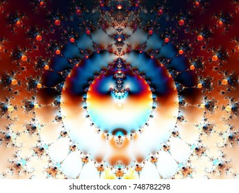 computer generated colerful fractal