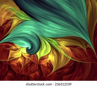 Computer generated fractal artwork for creative design, art and entertainment