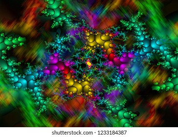 Computer generated fractal design. In mathematics, a fractal is a detailed, recursive, and infinitely self-similar mathematical set whose Hausdorff dimension exceeds its topological dimensions.