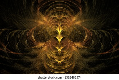 Computer generated fractal wallpaper, for printing. Enigmatic fractal pattern.