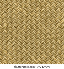 Computer generated graphic design of seamless realistic bamboo basket weave pattern
