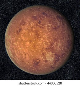 A computer graphic rendering of Venus