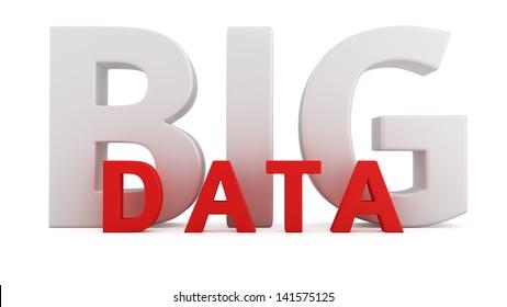 Computer innovation technology Big Data on white