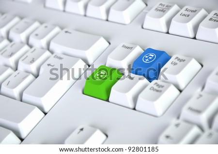 Computer Keyboard Sound Music Symbol Stock Illustration 92801185