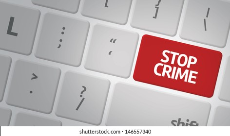 Computer keyboard with word Stop Crime
