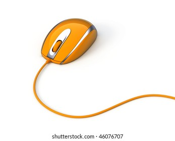 Computer mouse with cable isolated