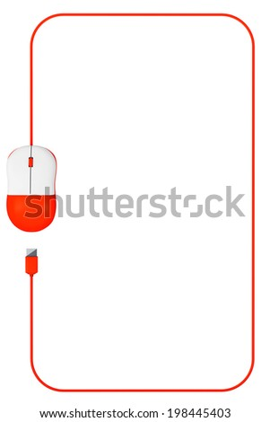 Computer Mouse Frame Blank Space Your Stock Illustration 198445403 ...