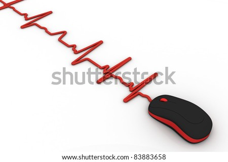 Terrific Royalty Free Stock Illustration Of Computer Mouse Wire Heartbeat Wiring 101 Ferenstreekradiomeanderfmnl