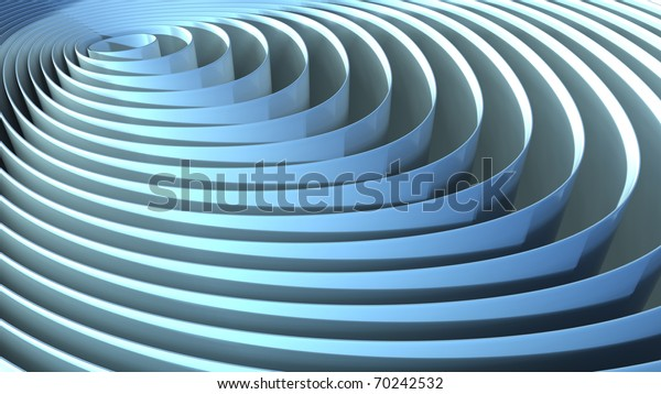 Computer rendering of and abstract background made of concentric ribbons