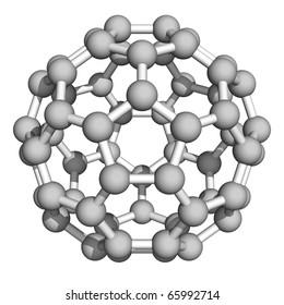 Computer rendering of Buckminsterfullerene, a prototype of carbon-based nanotubes.