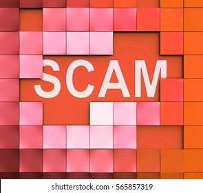 Computer Scam Meaning Scamming Processor And Fraud
