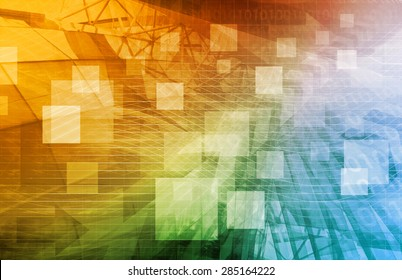 Computer Science as a Abstract Background Art
