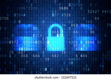 Computer security code abstract image, password protection and encryption conceptual image