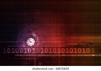 Computer Security Concept for Digital or Online Data