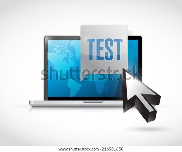 computer test illustration design over a white background