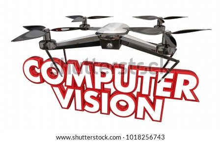 Royalty Free Stock Illustration of Computer Vision Drone Camera