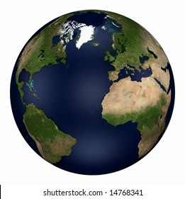 Computer-generated 3D illustration depicting the Earth