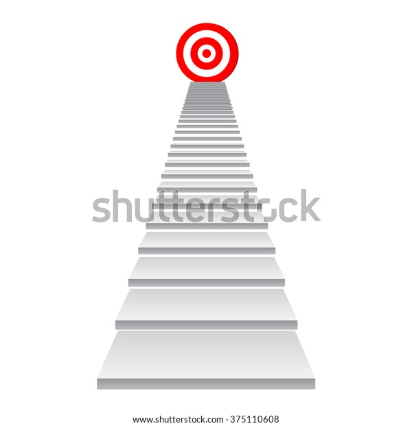 Concept 3d Stair Climbing Leader Chief Stock Illustration