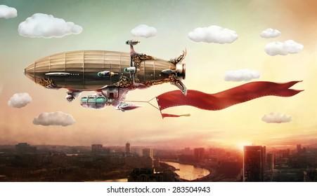 Concept Art Airship Fantasy