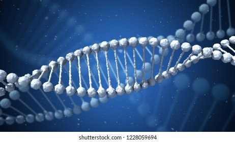 Concept of biochemistry with dna molecule infects.3D render.