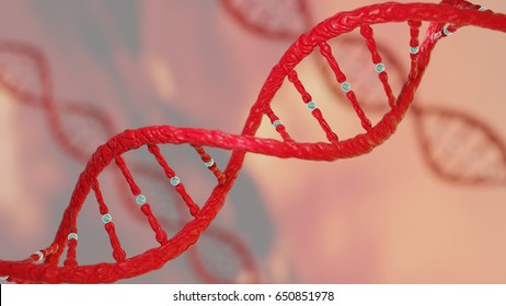 Concept of biochemistry with DNA molecule DNA sequencing Protein,  cancer gene research, CRISPR Research and gene editing 3D render