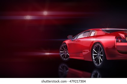 concept car; 3d illustration